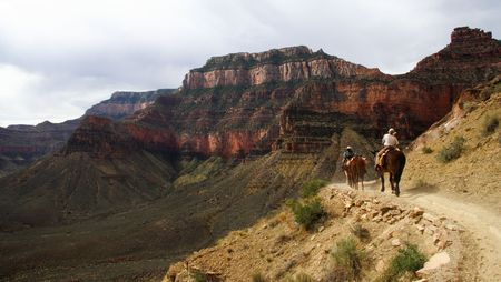 Horseback riding in the Grand Canyon photo