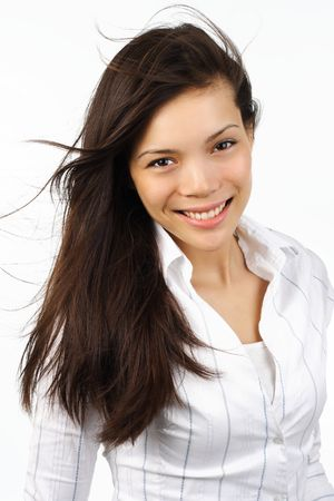 Portrait of young beautiful mixed race caucasian / asian woman. Stock Photo - 4701511