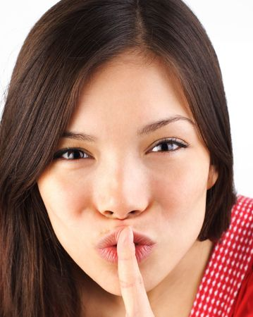 Hush! shh, be quiet and don�t tell - it�s a secret! photo