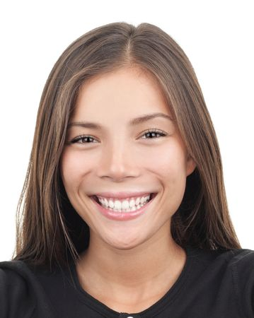 Asian woman smiling photo