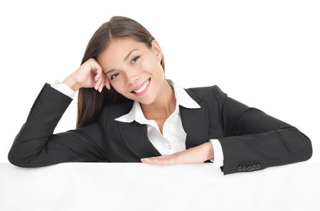 Casual billboard businesswoman Stock Photo - 6284044