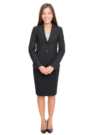 Business woman full body standing isolated on white background with copy space. Stock Photo - 8548898