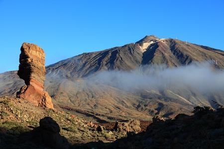 Tenerife. Luz de la mañana en Teide y el famoso rock, Cinchado en Los Roques.