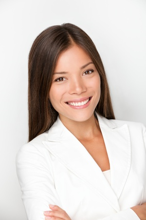 Young female professional portrait. Mixed race businesswoman smiling. Young executive in her twenties Stock Photo - 9301549