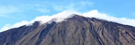 autmn: mountain top panorama. Peak of volcano Teide on Tenerife, Canary Islands, Spain.