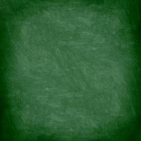 Chalkboard blackboard. Green chalk board texture empty blank with chalk traces. Stock Photo - 10132845