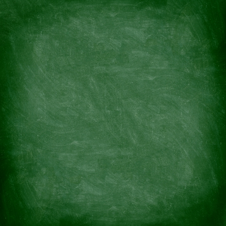 Chalkboard blackboard. Green chalk board texture empty blank with chalk traces. photo