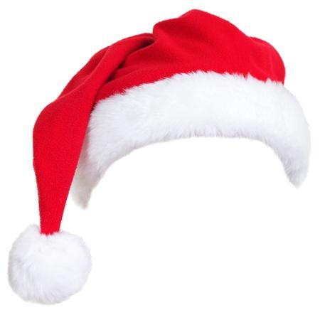 크리스마스 산타 모자와 흰색 배경에 고립입니다. 쉽게 사람의 머리에 넣어 디자인했다.