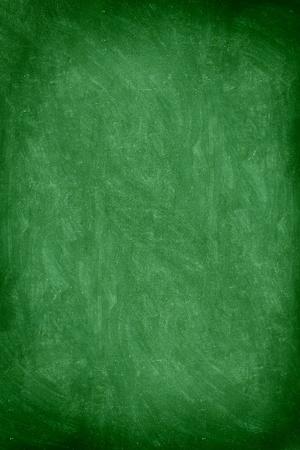 close up of empty school chalkboard  green blackboard. Great texture. Photo. photo