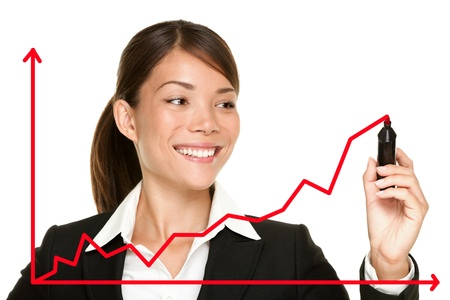 growth: Business success growth chart.
