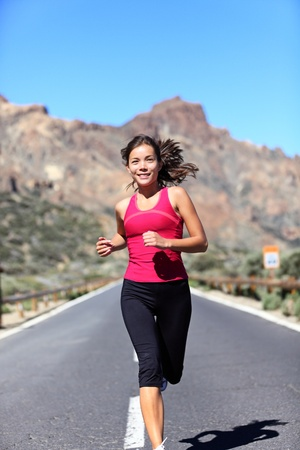 Jogging woman.  photo