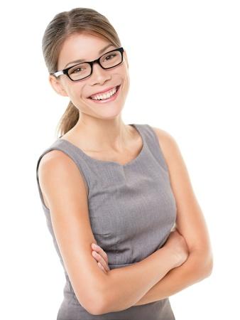 Vrouw draagt een bril brillen