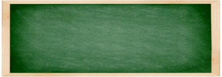 Chalkboard / blackboard banner. Close up of empty school chalkboard / green blackboard. Great texture. Photo. photo