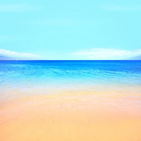 caribbeans: Beach ocean background texture. Stock Photo