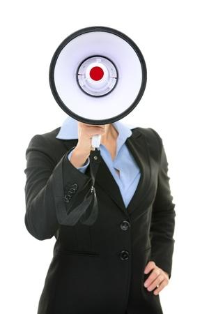 Megaphone business person concept. photo