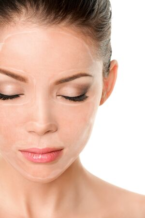 Collagen Sheet Mask Gesichtsmaske mit hydrolysierten Anti-Aging-Inhaltsstoffen Collagen-Superfood-Masken für Frauengesichtslinien und -falten verringert glattere und taufrische Haut.
