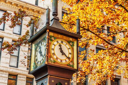 Steam Clock in Gastown District, Vancouver, BC British Columbia, Canada Stock Photo