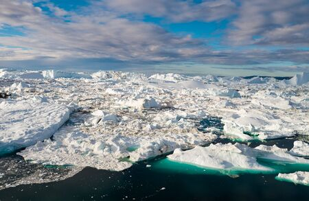 Iceberg in Greenland. Nature landscape - Climate change and global warming concept. Stock Photo
