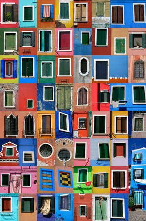 glass cutter: Island of Burano in front of Venice