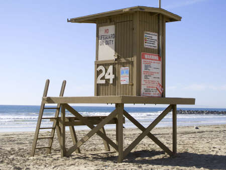 Lifeguard Tower in Newport Beach, California