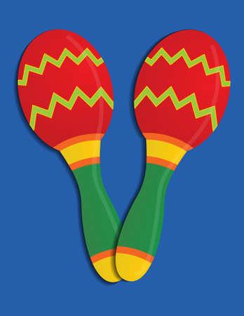 Festive and colorful Maracas. Zdjęcie Seryjne