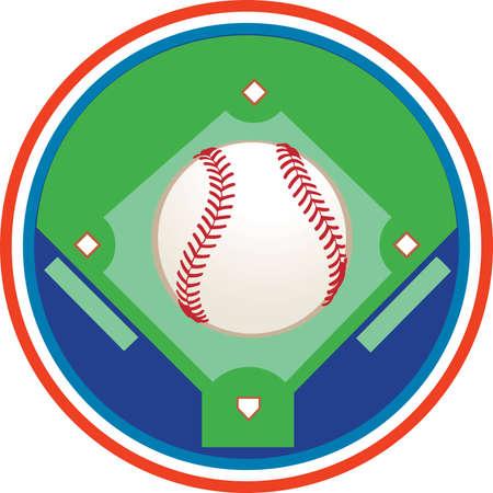 Een veld honkbal