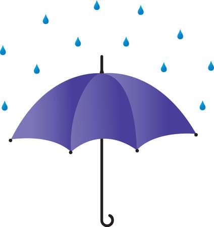 rainy sky: Paraguas bajo la lluvia Vectores