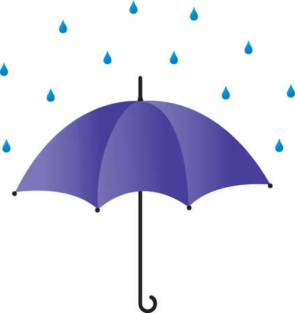 Umbrella in the rain Illustration