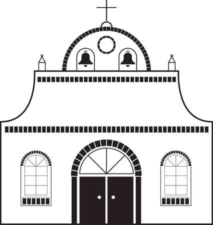 Mission kerk Stock Illustratie