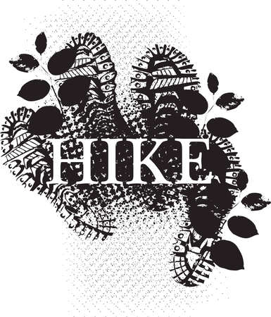 El Hiker Ilustración de vector