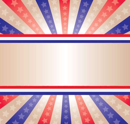 愛国心: 星とストライプの背景  イラスト・ベクター素材