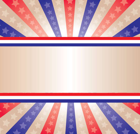 A stars and stripes background