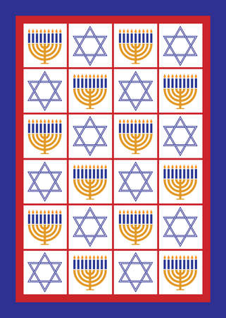 Hanukkah Decorative Pattern