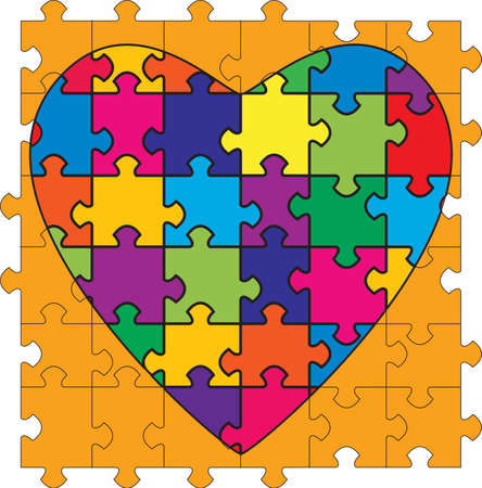 homosexual wedding: A Heart Shaped Puzzle. Illustrating the complexities of relationships.