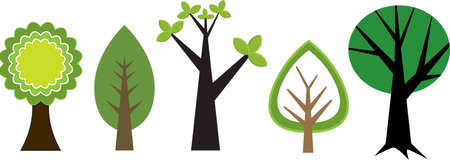 Funky Trees Stock Vector - 6470388