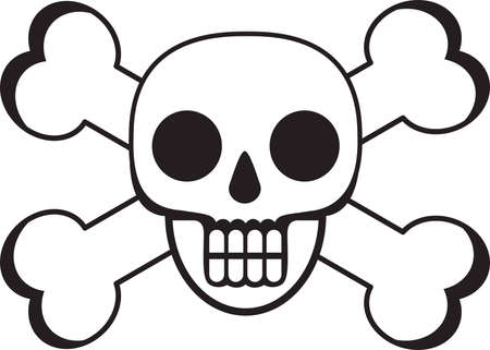 Death Skull And Cross Bones Vector