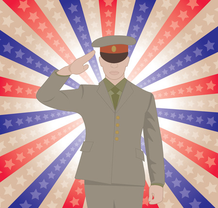 solider: Saluting Solider Illustration