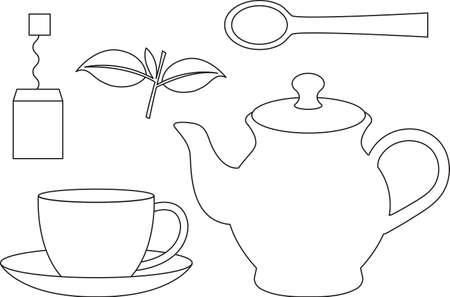 Tea set Çizim