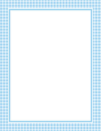 This is an illustration of a blue Gingham Pattern Background. Vector