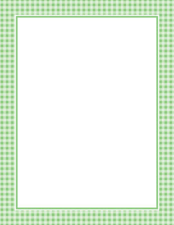 This is an illustration of a green Gingham Pattern Background. Vector