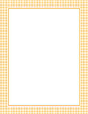 This is an illustration of a orange Gingham Pattern Background.