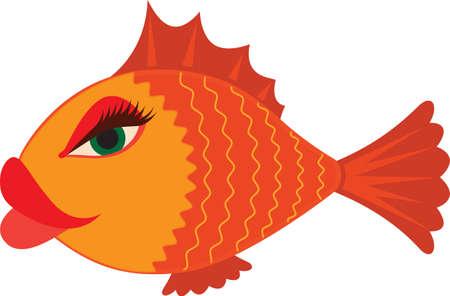 섹시한 만화 여성 물고기