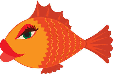 Sexy Cartoon Female Fish Vector