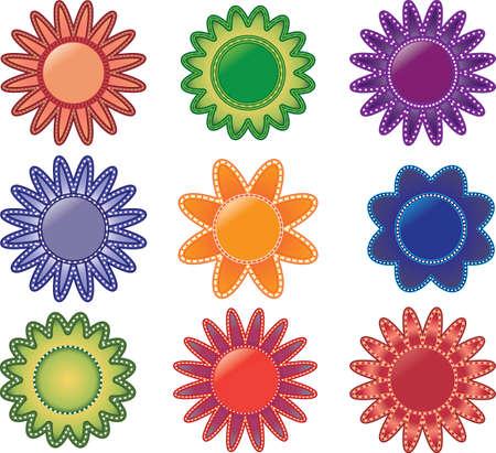 Dit is een verzameling van mooie bloemen. Zeer uniek en vol charme.  Stock Illustratie