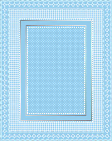 lacy: This is a illustration of an elegant lacy blue frame. Great boarder design. Great for stationary and scrapbooking.  Illustration