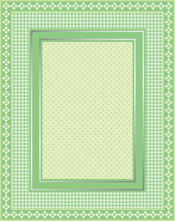 Dit is een illustratie van een elegante kanten groen kader. Grote grens design. Geweldig voor stationaire en scrapbooking.