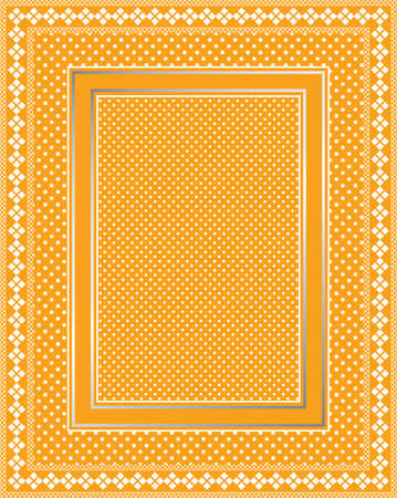 This is a illustration of an elegant lacy bright orange frame. Great boarder design. Great for stationary and scrapbooking. Vector