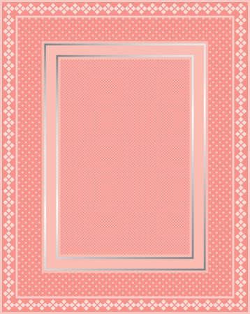 gingham: This is a illustration of an elegant lacy pink frame. Great boarder design. Great for stationary and scrapbooking.