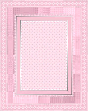 Dit is een illustratie van een elegante kanten roze frame. Grote grens design. Geweldig voor stationaire en scrapbooking.