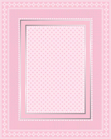 This is a illustration of an elegant lacy pink frame. Great boarder design. Great for stationary and scrapbooking.  Vector